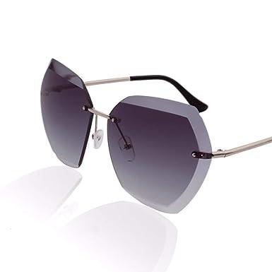 Amazon.com: Gafas de sol sin marco de polígono para mujer ...