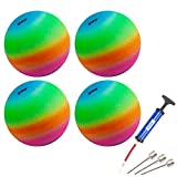 GSE Games & Sports Expert 10-inch Classic Inflatable Playground Balls (5 Colors Available) (4 Pack - Multi Colors)