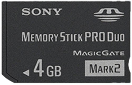 Sony 4 GB Memory Stick ProDuo MSMT4G/TQ1 (Black) by Sony