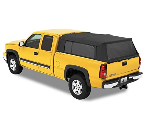 Bestop 76303-35 Black Diamond Supertop for Truck Bed Cover for 1997-2017 Chevy Silverado/GMC Sierra 1500/2500/3500, 6.5' bed (Best Top Truck Camper)