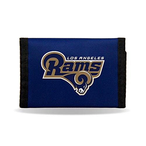NFL Los Angeles Rams Nylon Trifold Wallet (Rams Wallet)