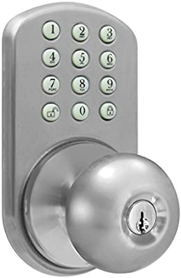 Merveilleux MiLocks TKK 02SN Digital Door Knob Lock With Electronic Keypad For Interior  Doors, Satin Nickel