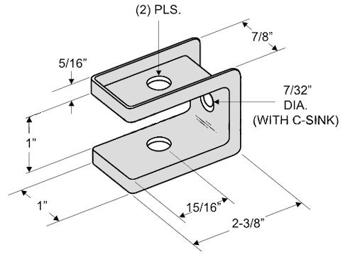 Outswing Door Hardware Repair Pak - for 7/8'' Restroom Partition Door & 1-1/4'' Pilaster by Youngs Catalog (Image #2)