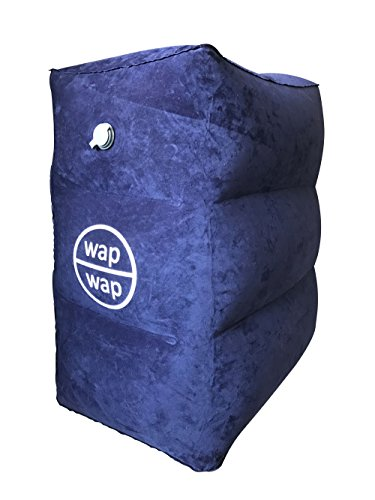 Travel Pillow for Kids, wapwap Travel Accessories Inflatable Footrest Travel Bed for Airplanes, Toddlers Bed Box on Flight, Using Cabin Overhead Air Vent to Inflate - Kids Bed Box