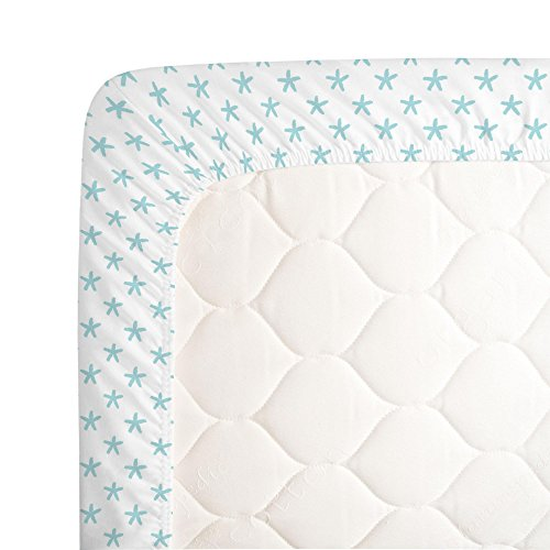Carousel Designs Seafoam Aqua Starfish Crib Sheet