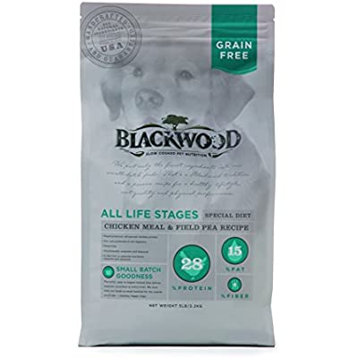 Blackwood Pet Food 075492051113 Chicken Meal & Field Pea Recipe Grain-Free Dry Dog Food, 5Lbs