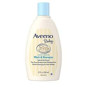 Aveeno Baby Daily Moisturizing Wash and Shampoo, 354ml