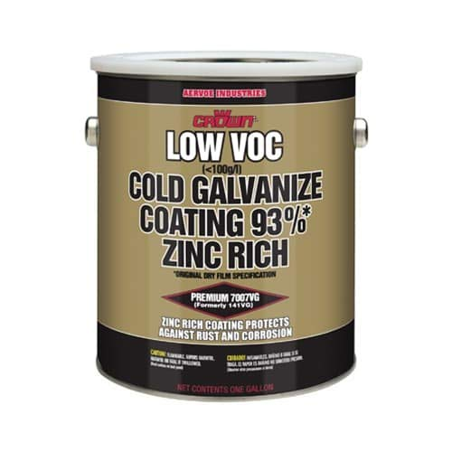 Crown 7007G Metallic Gray MIL-P-46105(MR), MIL-P-21035B, AND DOD-P-21035A, ASTM B-117 Cold Galvanize Coating, 1 gallon by Crown Remanufacturing