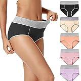 POKARLA Women's High Waisted Cotton Underwear Soft