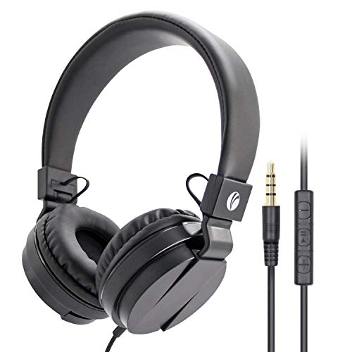 馃 VCOM Auriculares Plegables con Micr贸fono y Control de Volumen