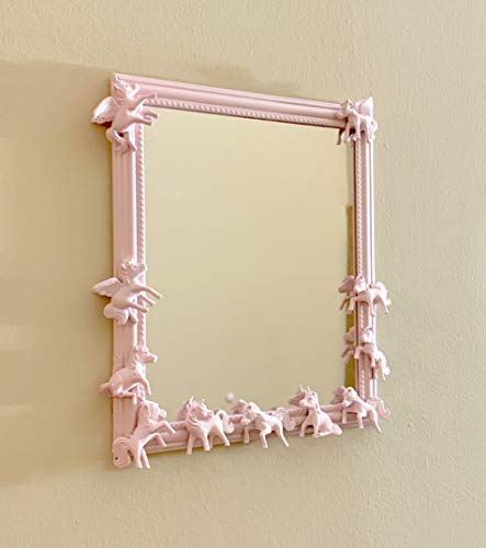 Pink Pearl Unicorn Mirror - Unicorn Mirror - Upcycled toy Mirrors - Childrens room mirror - Pony Party - Magical Ponies - Unicorn Decor