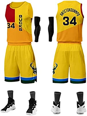 cheap for discount c9628 e7551 NBA Jersey Retro Version Basketball Uniform Milwaukee Bucks ...