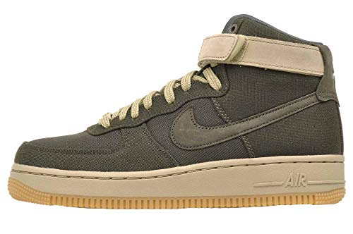 Nike Women's Air Force 1 Hi UT Basketball Shoes, AJ2775 300 Sequoia/Sequoia-Neutral Olive (8.5 B(M) US) (Green Top Shoes Nike High)