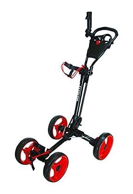 Qwik-Fold 4 Wheel Folding Push Pull Golf CART - Foot Brake - ONE Second to Open & Close! from QWIK-FOLD