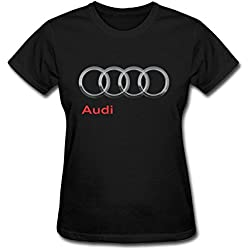 TIANRUN Women's Audi Automobile Manufacturer Logo Short Sleeves T-shirt Size S ColorName