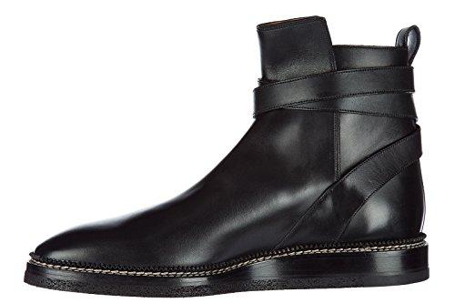 Bally Lederen Enkellaars Laarzen Mannen Zwarte Lejor