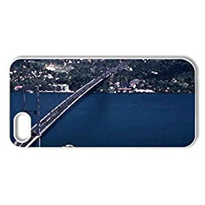 Istanbul Bosphorus - Case Cover for iPhone 5 and 5S (Bridges Series, Watercolor style, White)