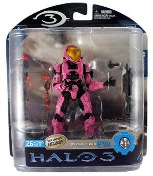 Halo 3 Series 3 Spartan Soldier EVA Rosa Ver Figure Figure Figure by Halo 59a7e4
