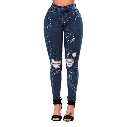 Pantalons Femmes Trou Denim Skinny AIMEE7 Jeans Jeans Haute Destroy Pantalons Extensible Taille Crayon Slim ZOwTaFqx