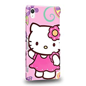 Case88 Premium Designs Hello Kitty Collection 0625 Protective Snap-on Hard Back Case Cover for Sony Xperia Z2 (Not Z2 Compact !)