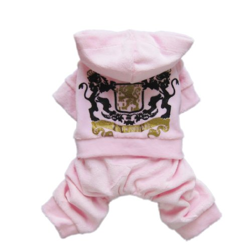 Causal Pink Dog Jersey Sporty Dog Shirt for Dog Hoodie Dog Jumpsuit Cozy Dog Clothes Free Shipping,Light Pink,M, My Pet Supplies