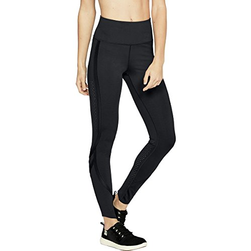 Under Armour Women's Breathelux Leggings, Black/Metallic Gold, X-Small Short