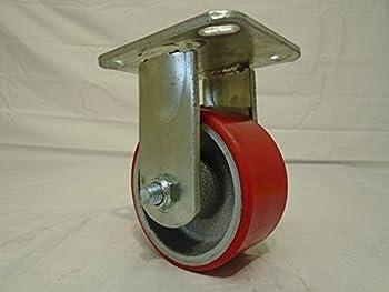 """4"""" X 2"""" Rigid Caster Heavy Duty Polyurethane on Steel Hub 700lb Each"""
