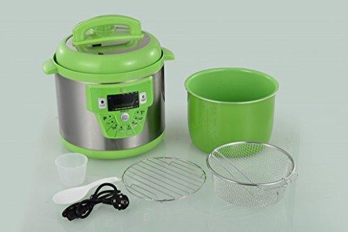 Cocina-programable-GM-modelo-E-freidora-y-Voz-6-litros-cubeta-ceramica-Verde