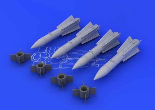 EDU648107 1 48 Eduard Brassin AIM54C Phoenix MIssile Set (4 pcs) by Eduard