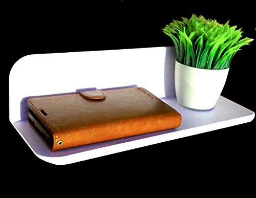 eLhook Stick-On Small Shelf in Flat Satin White