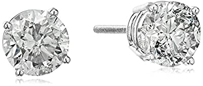 14k Diamond with Screw Back and Post Stud Earrings (J-K Color, I2-I3 Clarity)