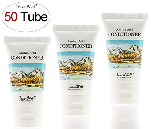 TRAVELWELL Landscape Series Hotel Toiletries Amenities Travel Size Guest Conditioner 1.0 Fl Oz/30ml, Individually Wrapped 50 Tubes per Box by Travelwell