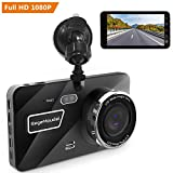 "Cheap RegeMoudal 4"" Car Dash Cam FHD 1080P Driving Recorder 170°Wide Angle Night Vision with Rear Cam WDR G-Sensor Motion Detection Parking Monitoring Loop Recording"