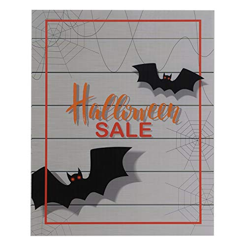 Source One Deluxe 22 x 28, 11 x 17, 8 1/2 x 11 Inch Floor Standing Sign Holders Multiple Colors Black, White & Gray Heavy Duty Weighted Metal (8 1/2 x 11 Inch, Halloween Sale) ()