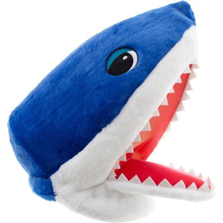 Large Head Halloween Costume (Maskimals Plush Head Halloween Costume, Blue Shark)