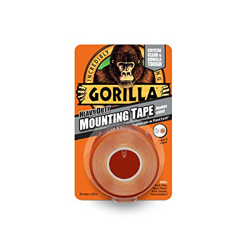 Gorilla Glue 3044101 Heavy-Duty Double Sided Mounting Tape, 25.4 mm x 1.52...