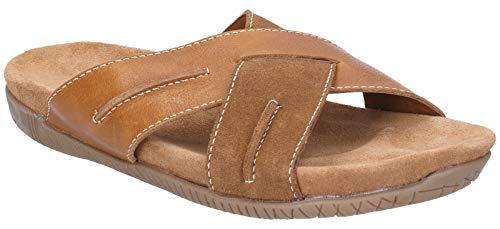Hush Puppies Mens Gizmo Slip On Sandals (9 US) (Tan/Brown)