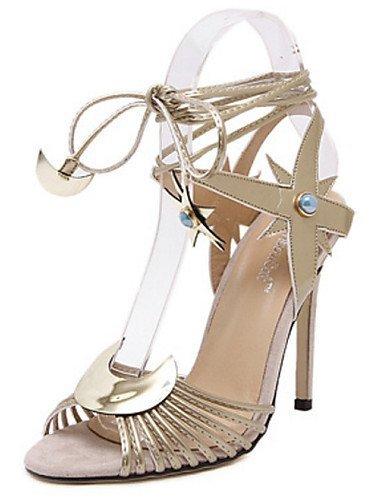 lfnlyx PU Femme Chaussures Talons Stiletto Talon/bout ouvert Sandales extérieur/Décontracté Argenté/doré Argent argent us8.5 / eu39 / uk6.5 / cn40
