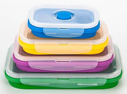 GiniHome Silicone Lunch Box, 1, Green ()