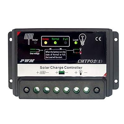 Tumo-Int 10 Amp 12/24V PWM Smart Solar Controller