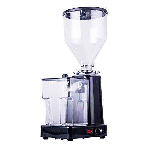 Huanyu Electric Coffee Grinder 1000G Commercial&Home Grinding Machine for Beans Nuts Spice Automatic Burr Grinder 200W Professional Miller 19 Fine – Coarse Grind Size Settings Stainless Cutter Steel Pulverizer (220V, Black with Powder Box)