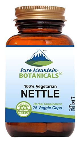 Stinging Nettle Leaf Capsules - 75 Kosher Veggie Caps - Made with 500mg Organic Stinging Nettles Leaf Powder