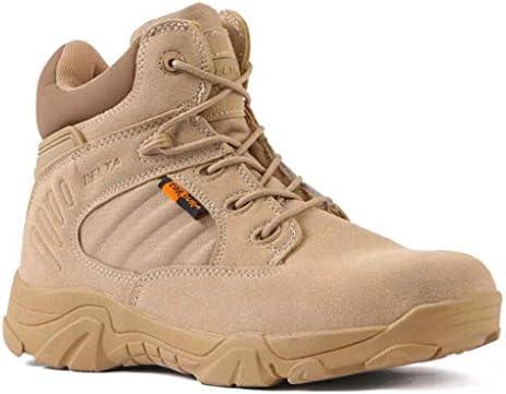 快適な屋外耐久性のある滑り止め耐摩耗マイクロファイバーレザーサイドジッパーシューズマイクロファイバーレザー低タイスタイルのプラスチック製のハイキング男性のための砂漠の戦闘ブーツの靴 (色 : 真鍮, サイズ : 24 CM)