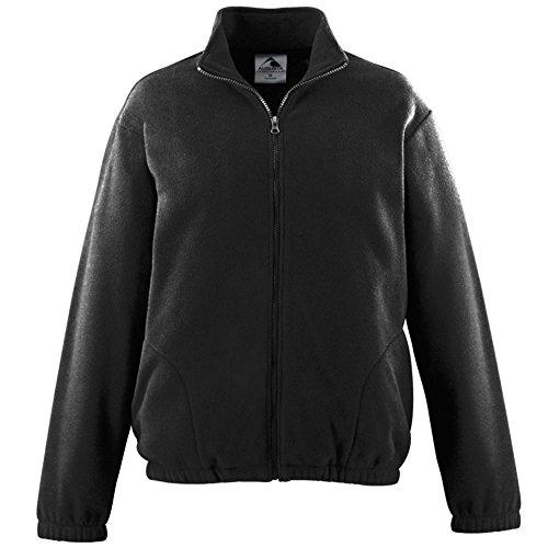Augusta Activewear Chill Fleece Full Zip Jacket, Black, - Fleece Chill Augusta
