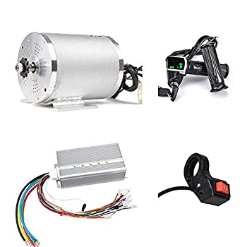 Image of Electric Scooter Motor 48V 2000W Mid Drive Motor DC Brushless Controller 45A with LCD Throttle Grip 3-speed Switch for Go Kart ATV Electric Bicycle Conversion Kit (48V 2000W 45A motor kit) Home Improvements
