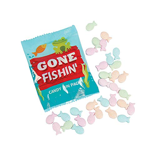 - Fun Express - Fish Candy Fun Packs for Birthday - Edibles - Hard Candy - Dextrose - Birthday - 24 Pieces