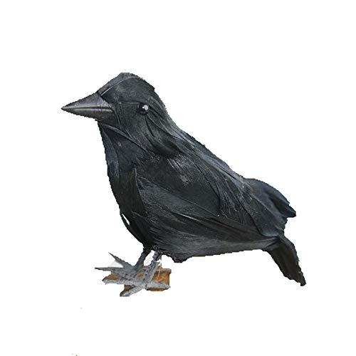 Connoworld Lifelike Scary Artificial Raven Halloween Emulation Crow Model Party Decoration Black -