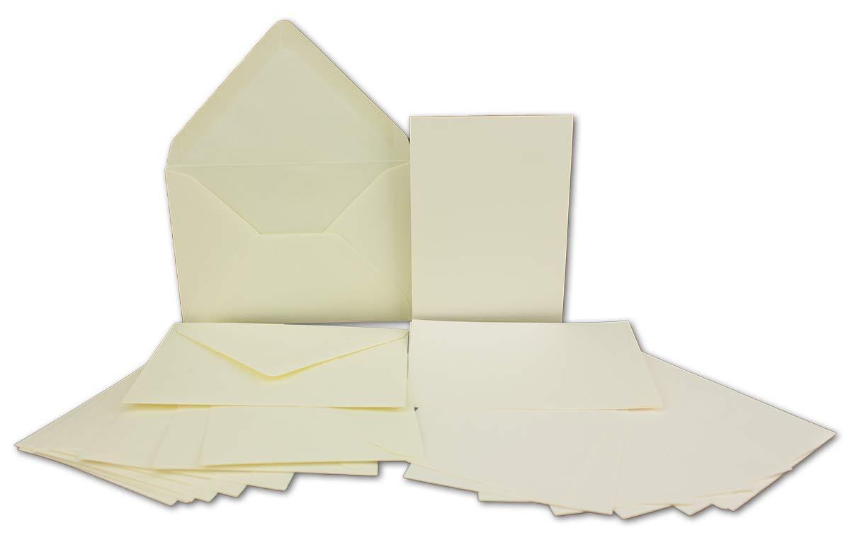 200x Stück Karte-Umschlag-Set Einzel-Karten Din A7 10,5x7,3 cm 240 g m² Dunkelgrün mit Brief-Umschlägen C7 Nassklebung ideale Geschenkanhänger B07MJ9RHNC | Online Shop