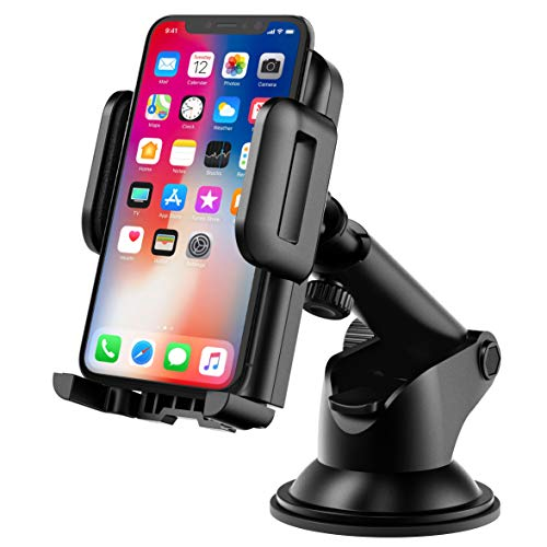 : Mpow Car Phone Mount,Washable Strong Sticky Gel Pad with One-Touch Design Dashboard Car Phone Holder for iPhone X/8/8Plus/7/7Plus/6s/6Plus/5S, Galaxy S5/S6/S7/S8, Google Nexus, LG, Huawei and More