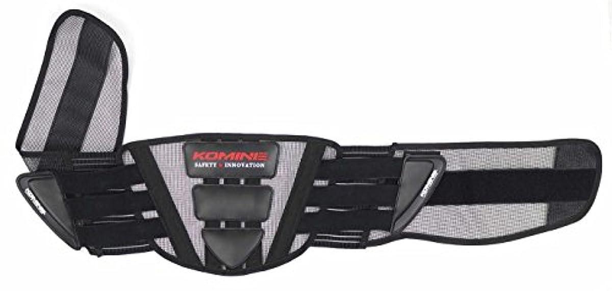[해외] 코미네 KOMINE 오토바이 배면 프로텍터 (웨스트) 화이트부레이스 블랙/레드 프리 04-605 SK-605